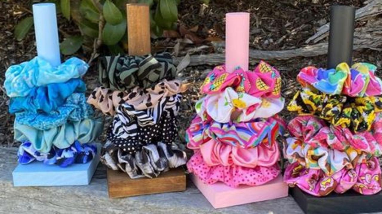 Scrunchies by Lyss' new line of scrunchie and stand packages.