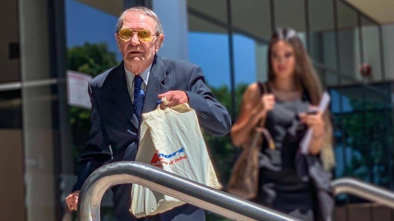 Alexander Dietmar Willer leaves Maroochydore Magistrates Court after he allegedly sent threatening letters to Queensland Premier Annastacia Palaszczuk.