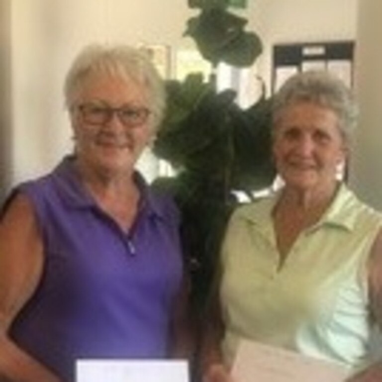 Gympie Golf Club Ladies' Saturday comp winner Carol Ward and Maureen Carroll.