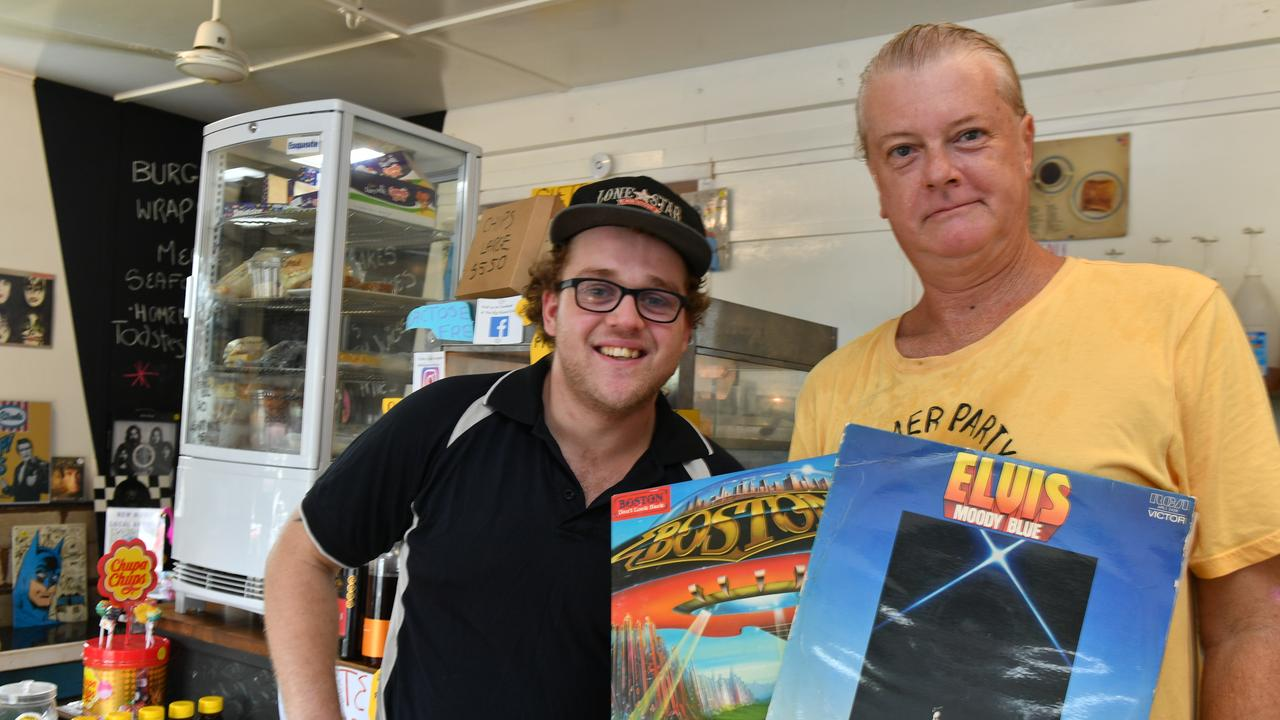 Joshua Towells and Scott Collins at their new business the Big Record Diner.