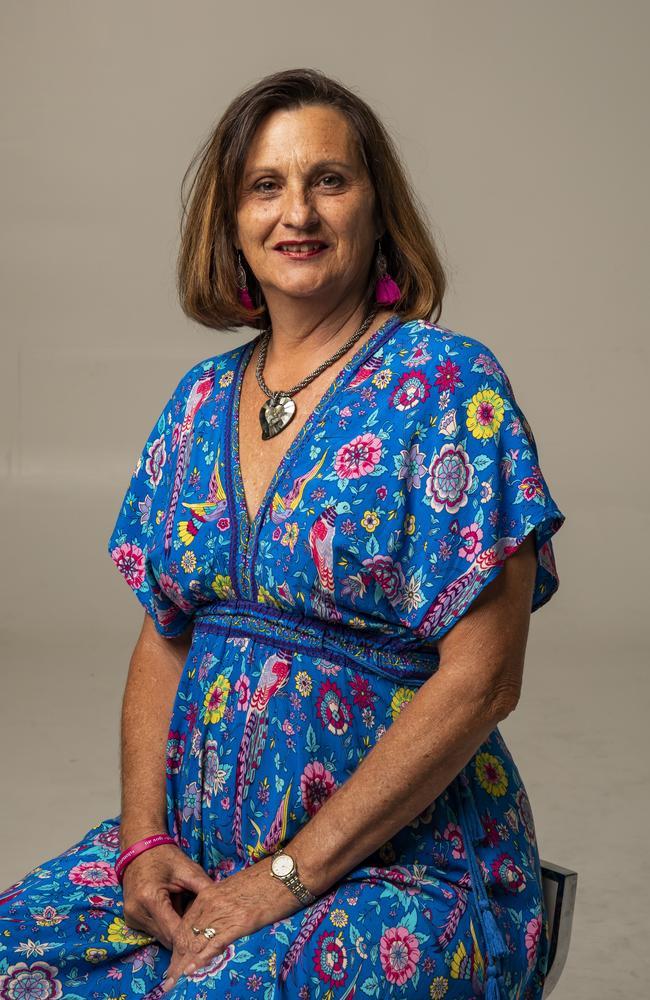 Karen Sander had a heart transplant. Picture: Mark Cranitch.