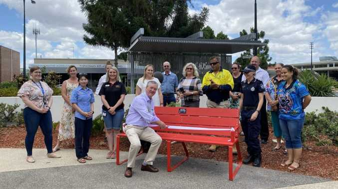 Red Bench to raise awareness of domestic violence