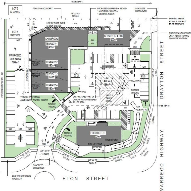 Plans for a proposed development at 178 Drayton St, Dalby.