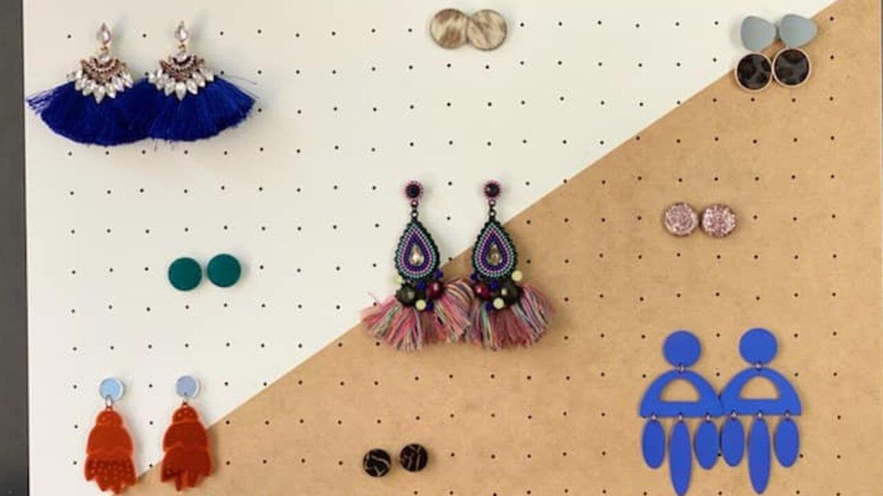 Handmade earring boards from TS Designs.