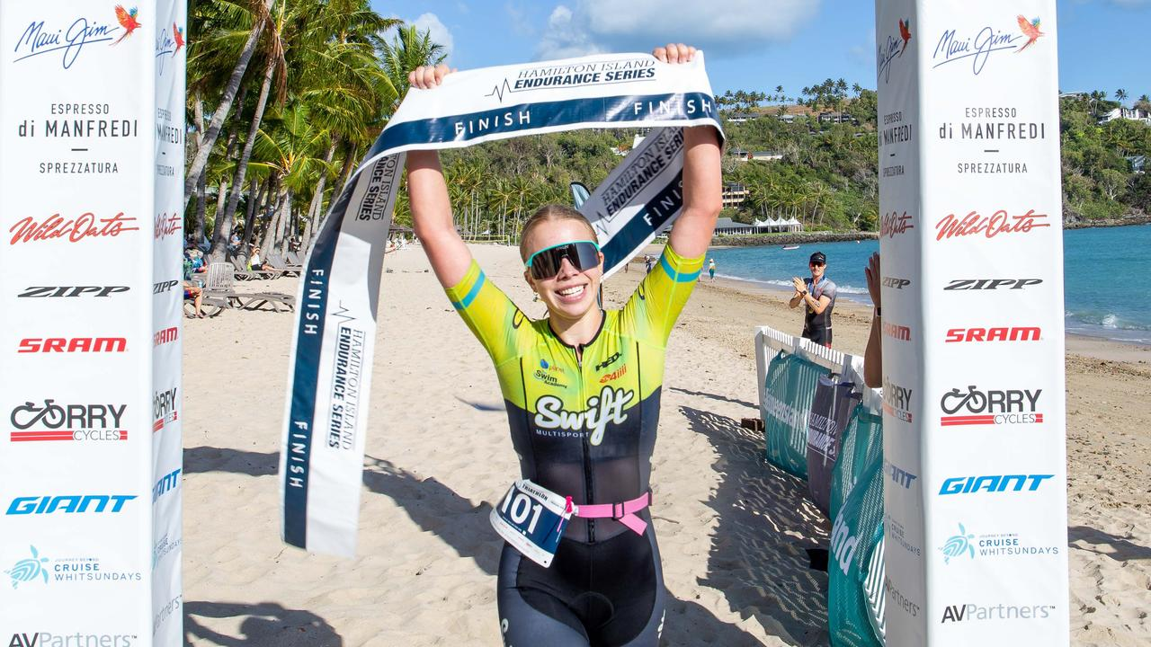 Carmen Teiniker claimed her first Hamilton Island Triathlon crown on the weekend. Picture: Supplied