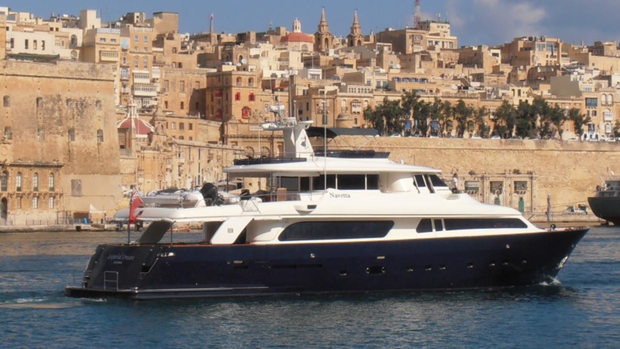 The superyacht Imperial Dream is owned by British multi-millionaire Stephen Walduck.