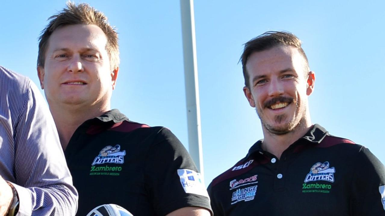 Scott Thorburn (left) will coach Magpies A-Grade in 2021, while Michael Comerford (right) will be at the helm of Brothers A-Grade next season. Picture: File