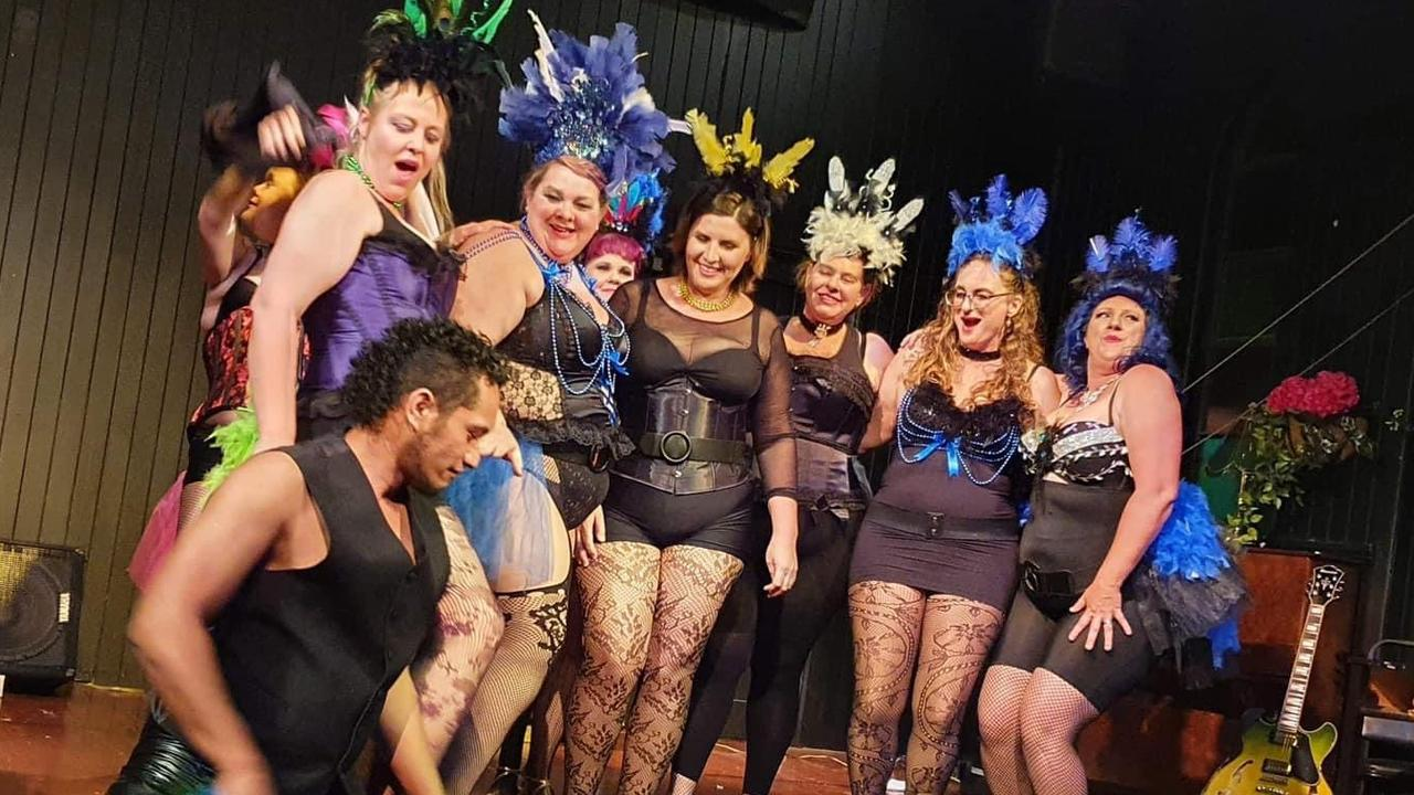 BREAKING BARRIERS: The ladies of the Tease not Sleaze burlesque school practice for their Dec 11 performance.