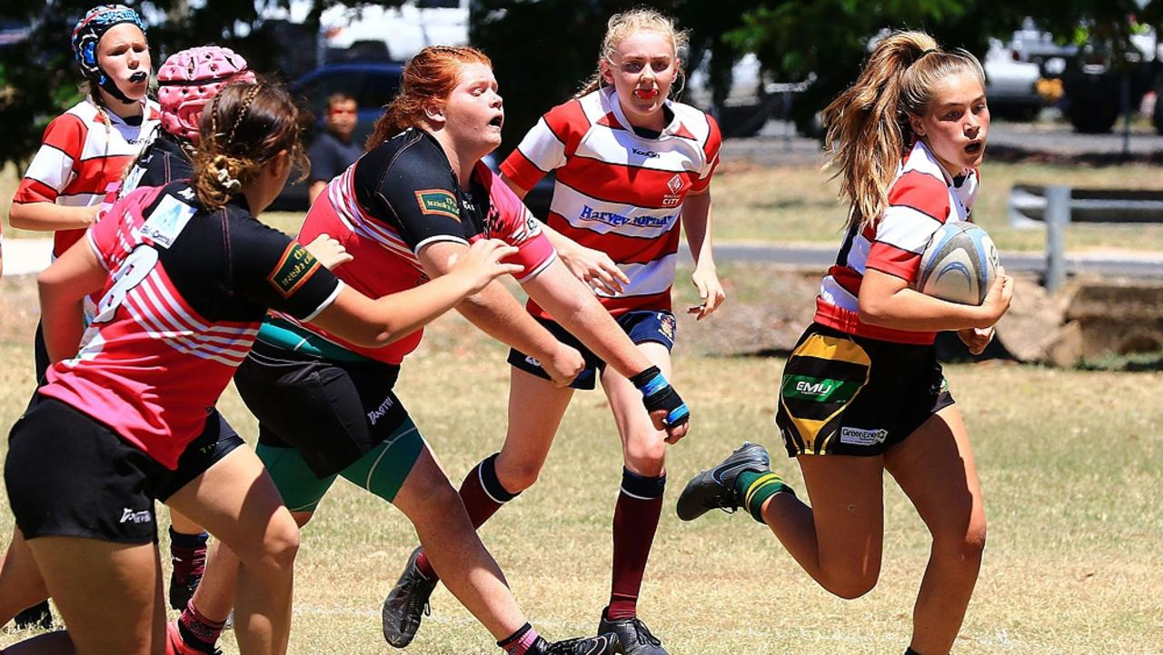 The 2020 Women's Rugby Union finals held at Emerald's Morton Park on November 21. Photo: Terry Hill