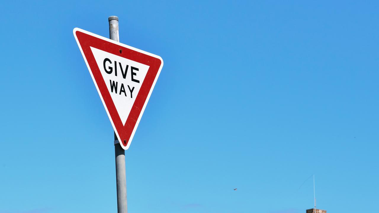 Queensland's Department of Transport have quizzed social media followers on a confusing give way sign scenario. Picture: AAP Image/Morgan Sette