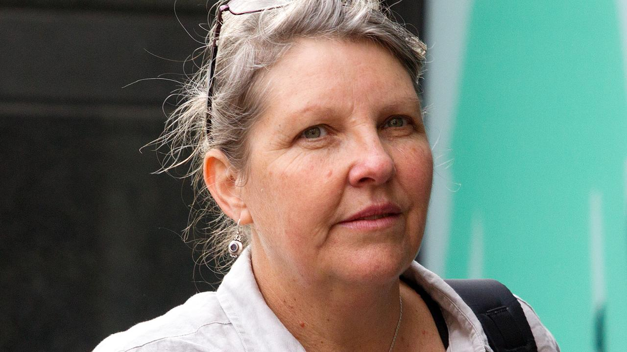 Gaye Demanuelle pictured during the inquest into death of home birth advocate Caroline Lovell. Picture: Sarah Matray