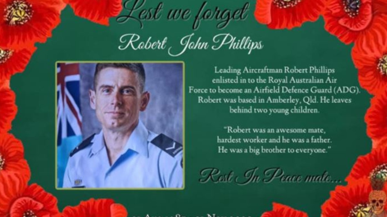 A memorial post of Leading Aircraftman Robert Phillips by The Pineapple Express on November 16, 2020.