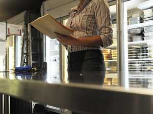 How many food businesses were fined, told to pick up act