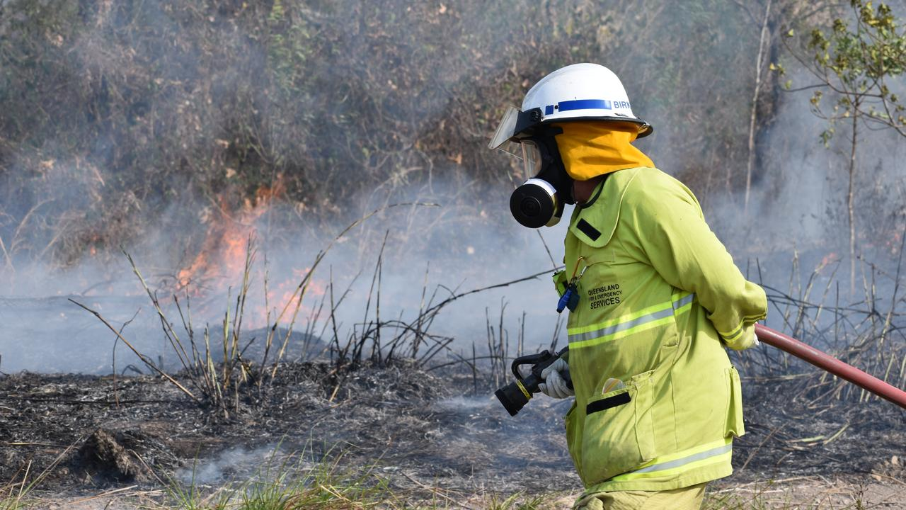 Firefighters battled a large fire at Hay Point today. `Picture: Zizi Averill.