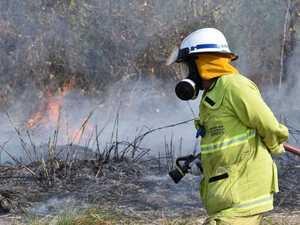 IN PHOTOS: Firefighters hold back grassfire at Hay Point