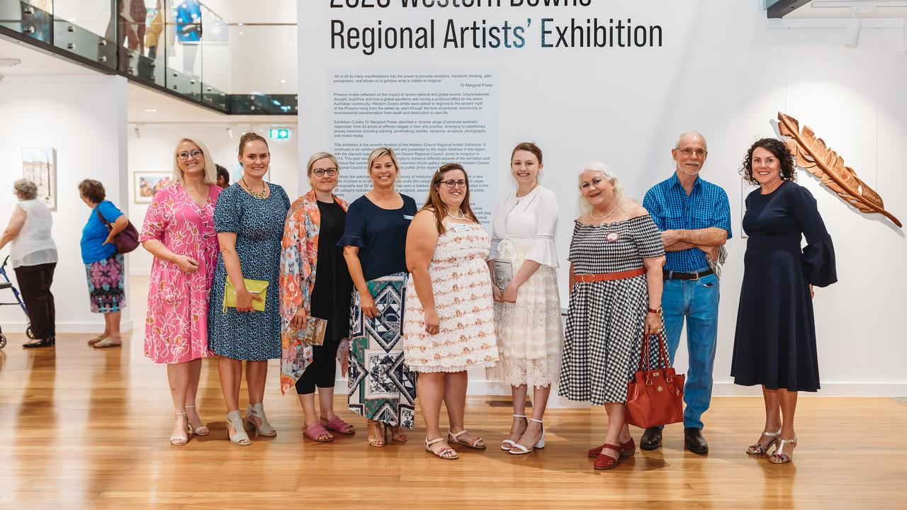ARTISTS RECOGNISED: Cr Kaye Maguire, Regi Lehman, Kristen Flynn , Cr Megan James, Andie Walker, Alicia Streten, Colleen Walker, Guy Breay, Natarsha Collins Picture: Susan Jacobs Photography