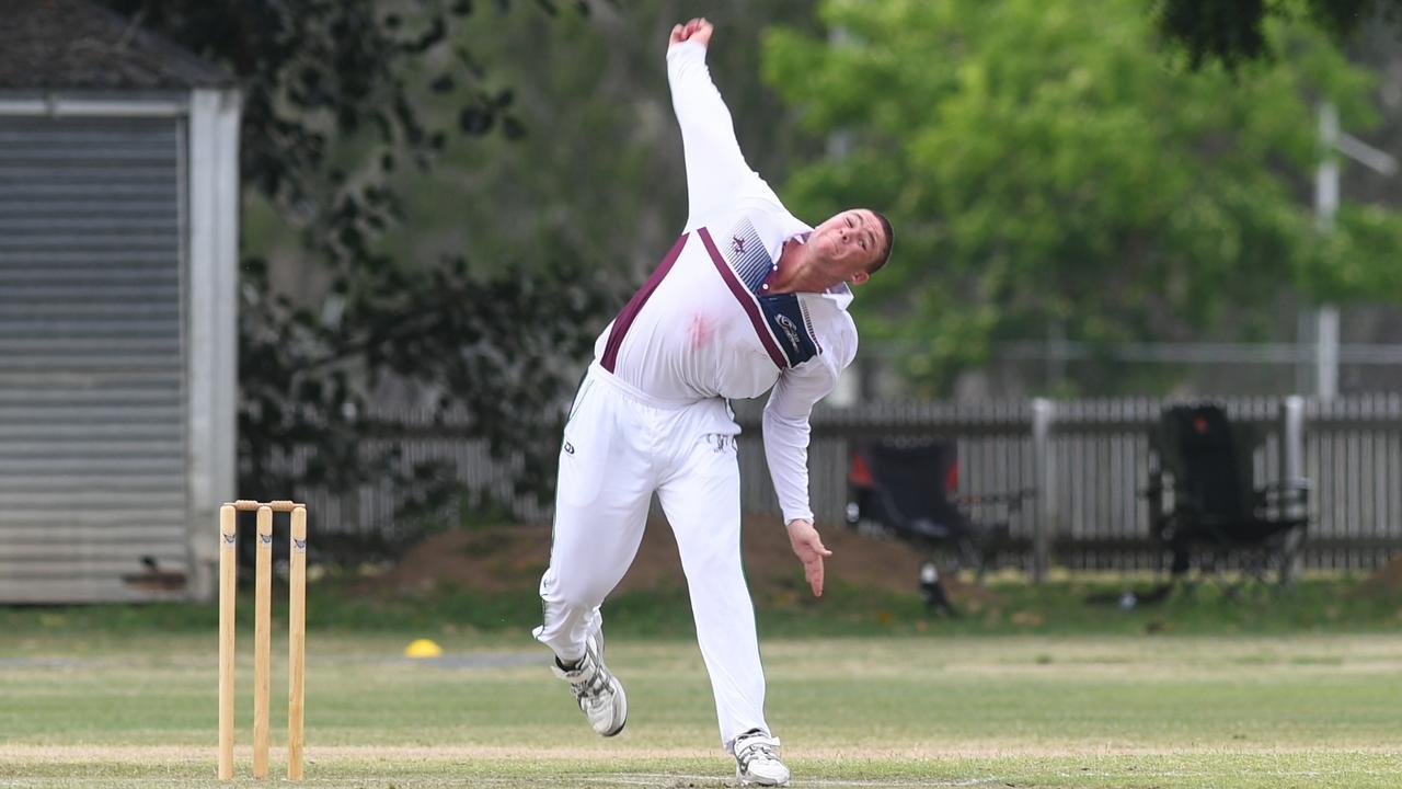 CRICKET Nth Qld U21 championships: Mackay-Whitsunday's Jack Dwyer bowls