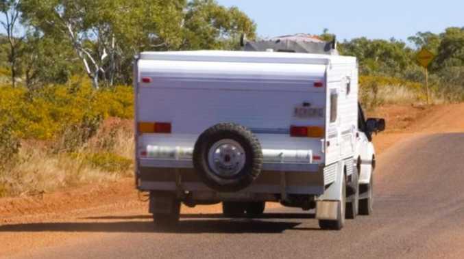 Woman flips unroadworthy caravan