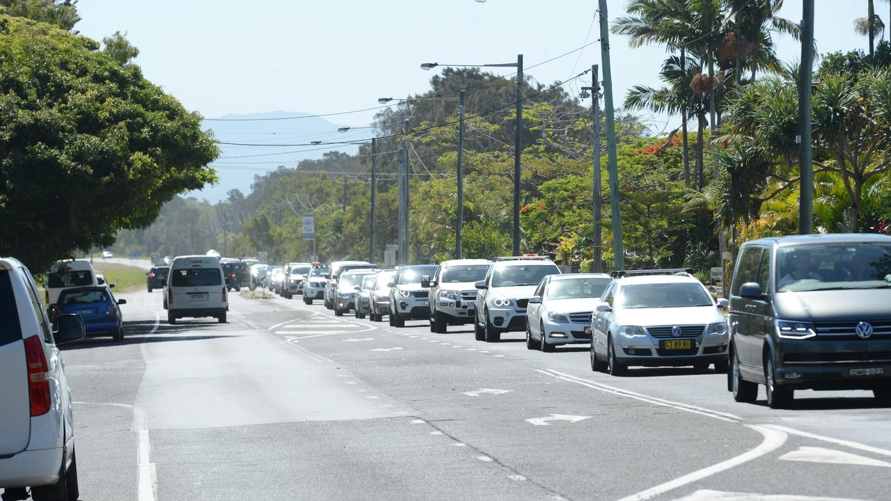 Heavy traffic on Ewingsdale Rd heading into Byron Bay on Monday, November 23. Picture: Liana Boss