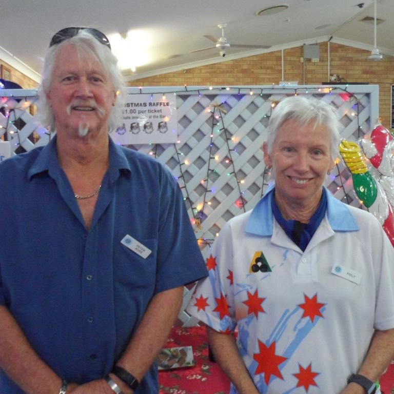 Cooloola Coast Thursday Mixed Social Bowls winners Sue Pollitt and Peter Ross.