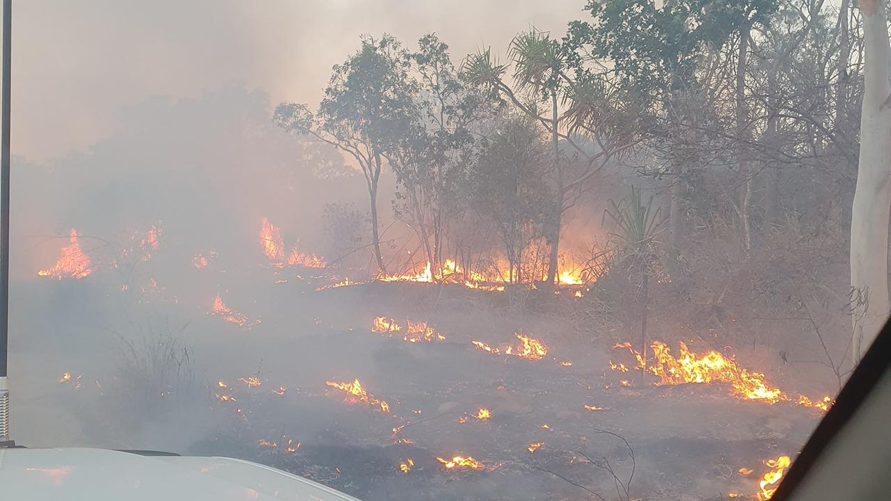 Bowen residents are being urged to stay informed as a bushfire continues to burn near Whitsunday Paradise. Picture: Bowen Delta Rural Fire Brigade