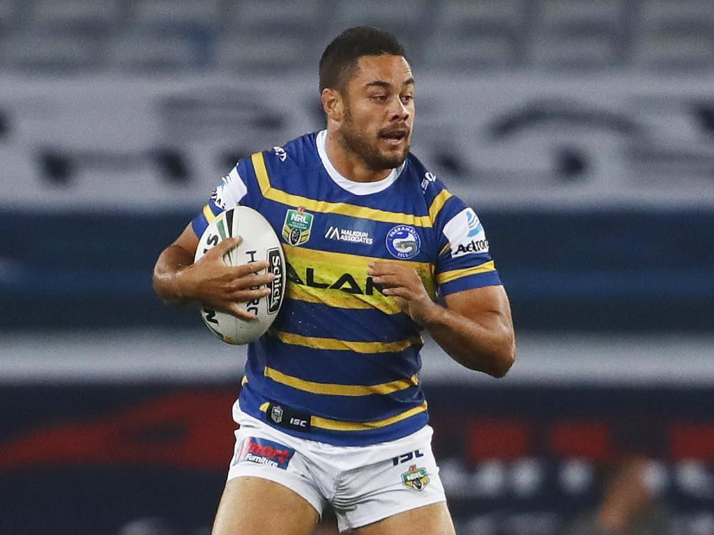Jarryd Hayne during his time at the Parramatta Eels. Picture: AAP Image/Daniel Munoz