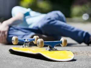 Man suffers head injury in skateboard crash