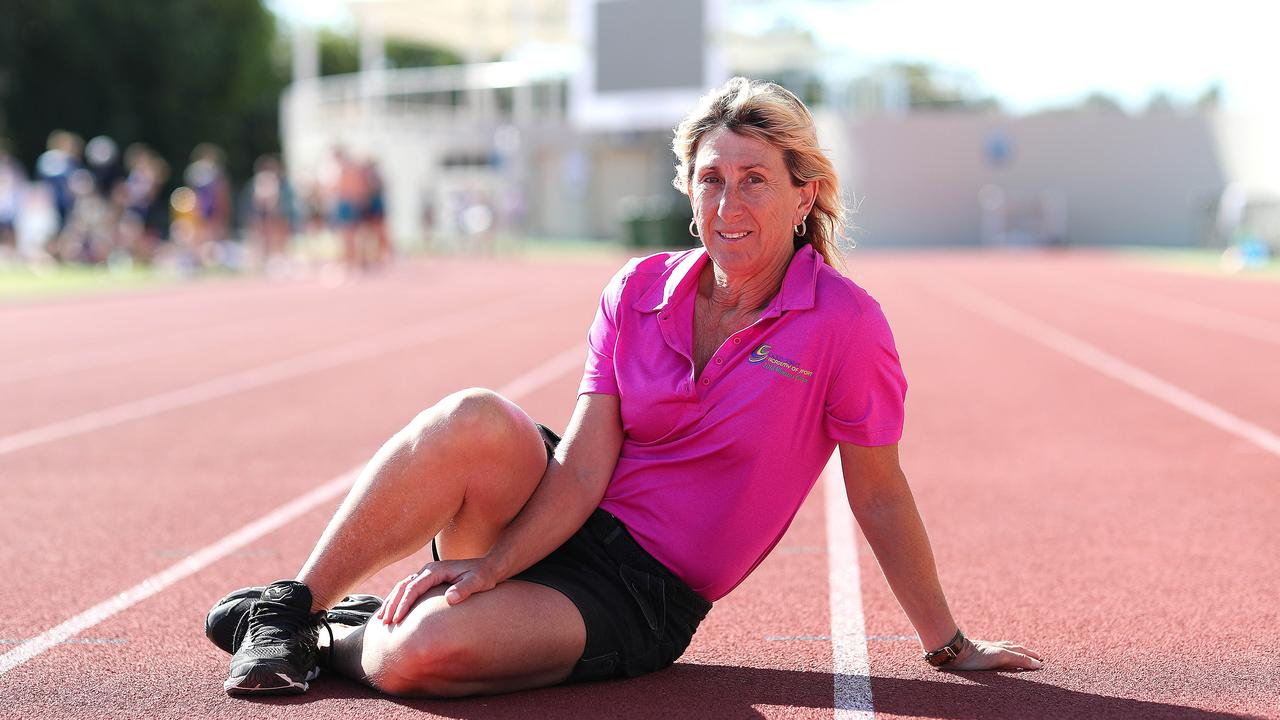 Olympic gold medallist Glynis Nunn is now based on the Gold Coast where she coaches athletics. Picture: Peter Wallis