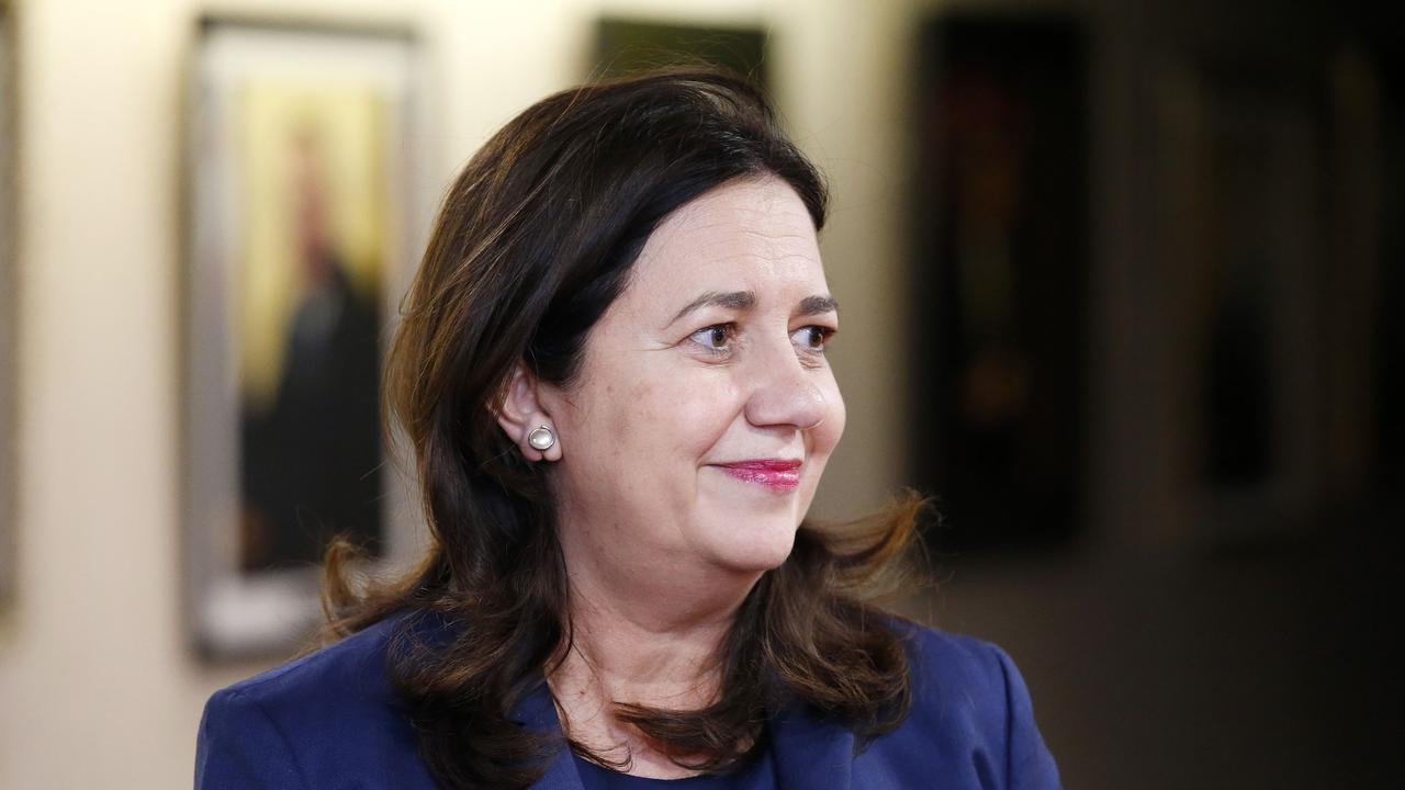 Queensland Premier Annastacia Palaszczuk announced the border reopening this morning. Picture: Josh Woning
