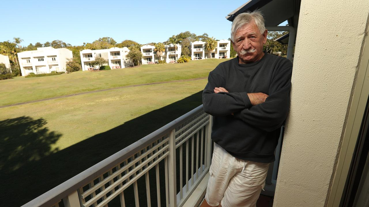 BATTLE OVER: Chris Shannon pictured at the Palmer Coolum Resort. Picture: Lyndon Mechielsen