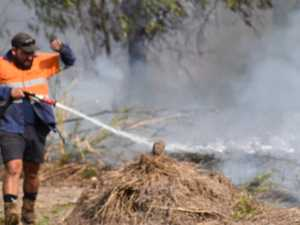 IN PICTURES: Firefighters battle Hay Point grassfire