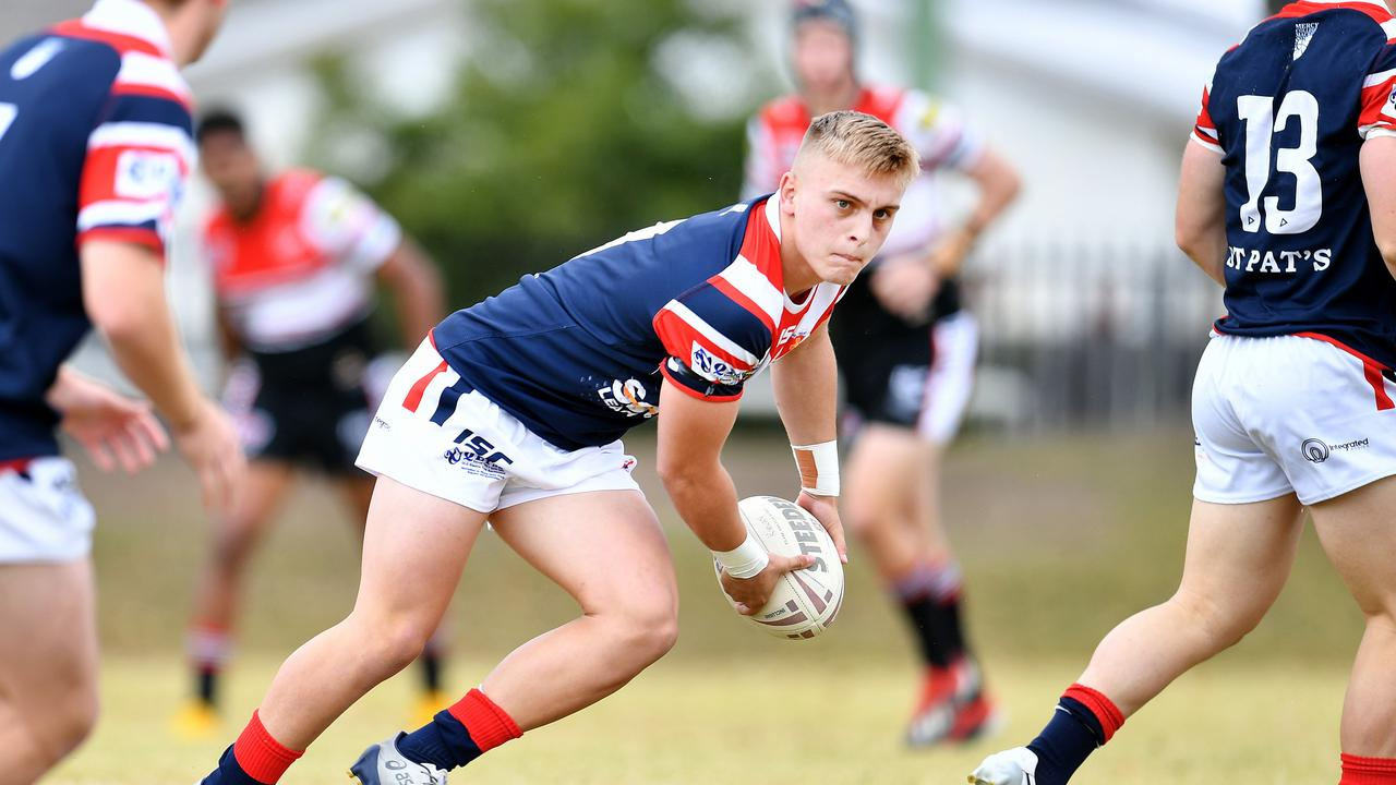Toby Thorburn plays for St Patrick's College in the Aaron Payne Cup semi final. Picture: Alix Sweeney