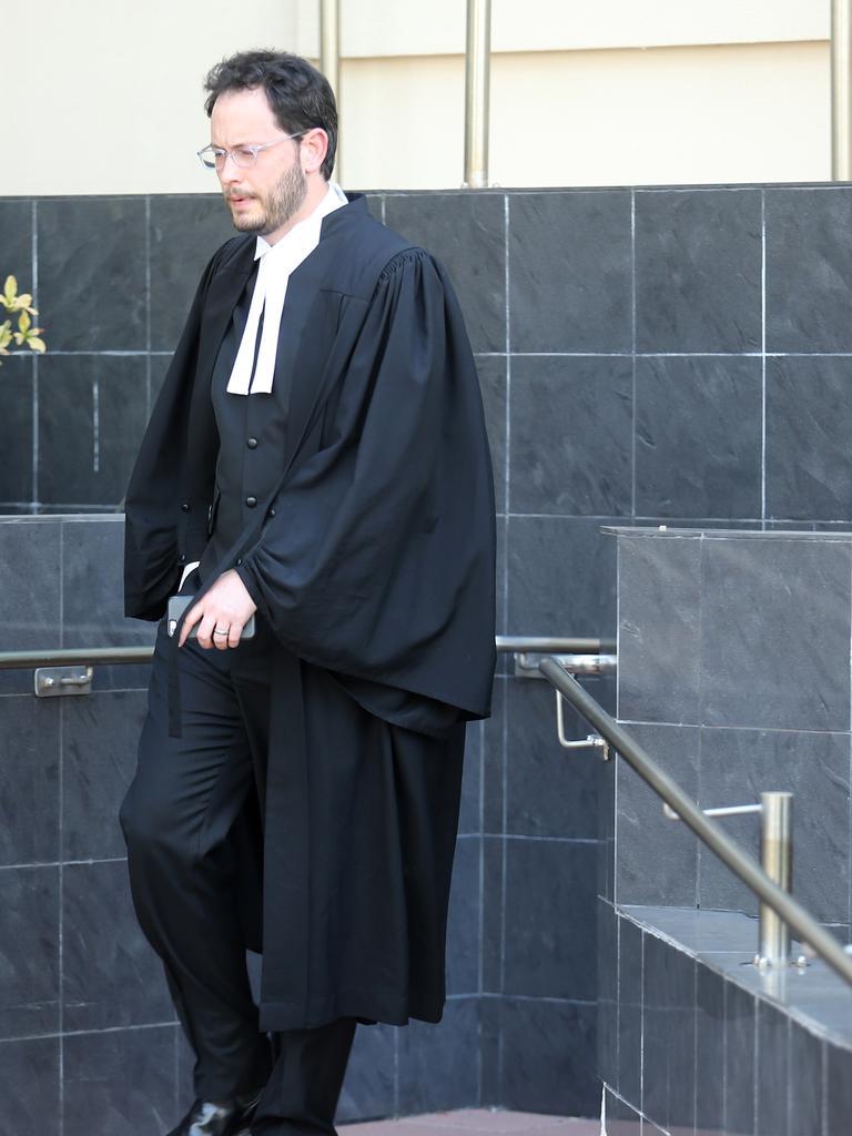 Crown prosecutor Joshua Phillips outside the Rockhampton Court House. Pictures: Jack Tran
