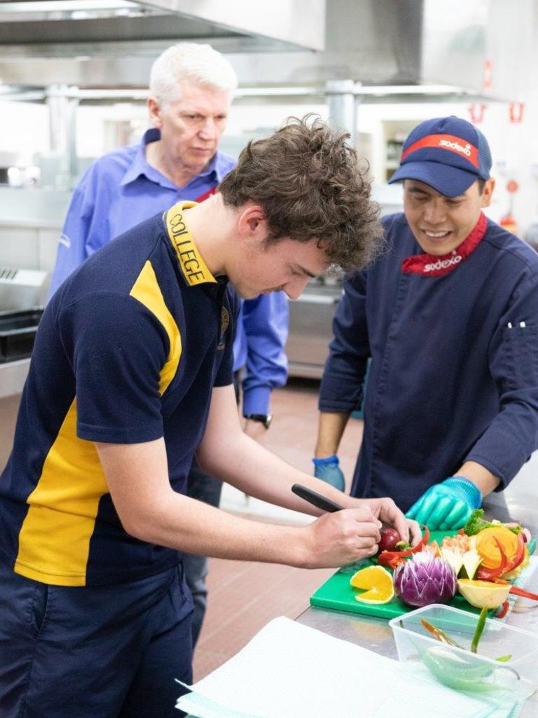 Hospitality students in Year 10 and 11 at Roma State College had the opportunity to spend time with Sodexo's Chef Bobby from Origin's Spring Gully.