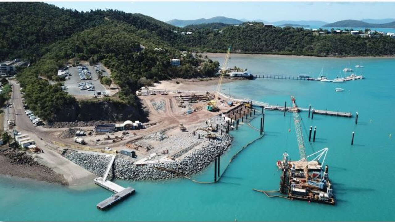 The $54.5 million Shute Harbour restoration begun earlier this year. Picture: Supplied