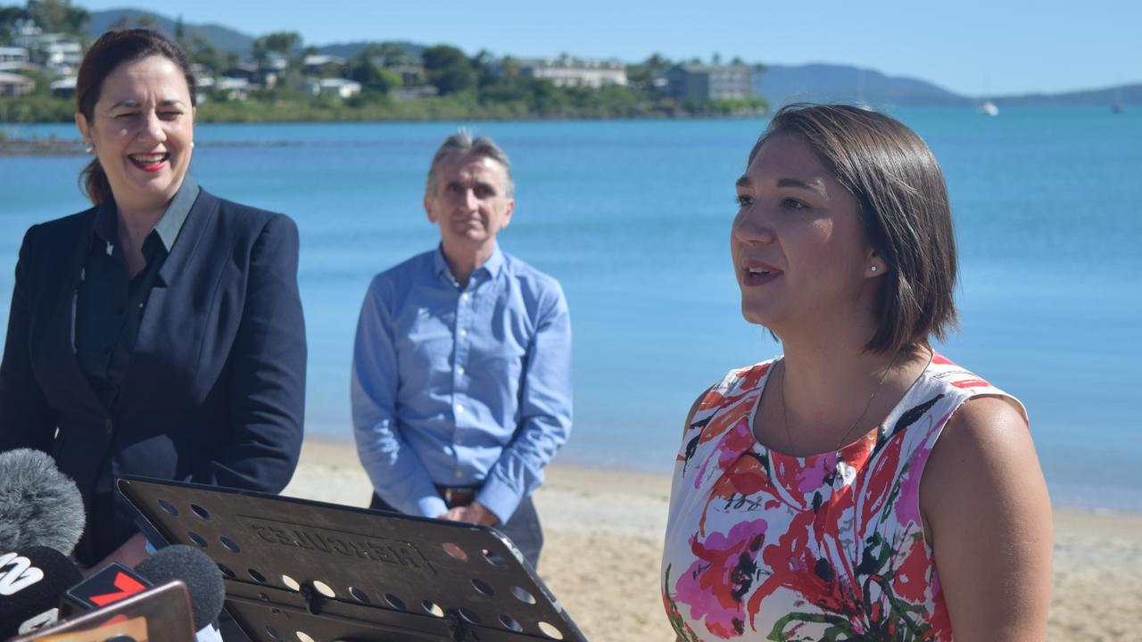 Tourism Whitsunday CEO Tash Wheeler met with premier Annastacia Palaszczuk.