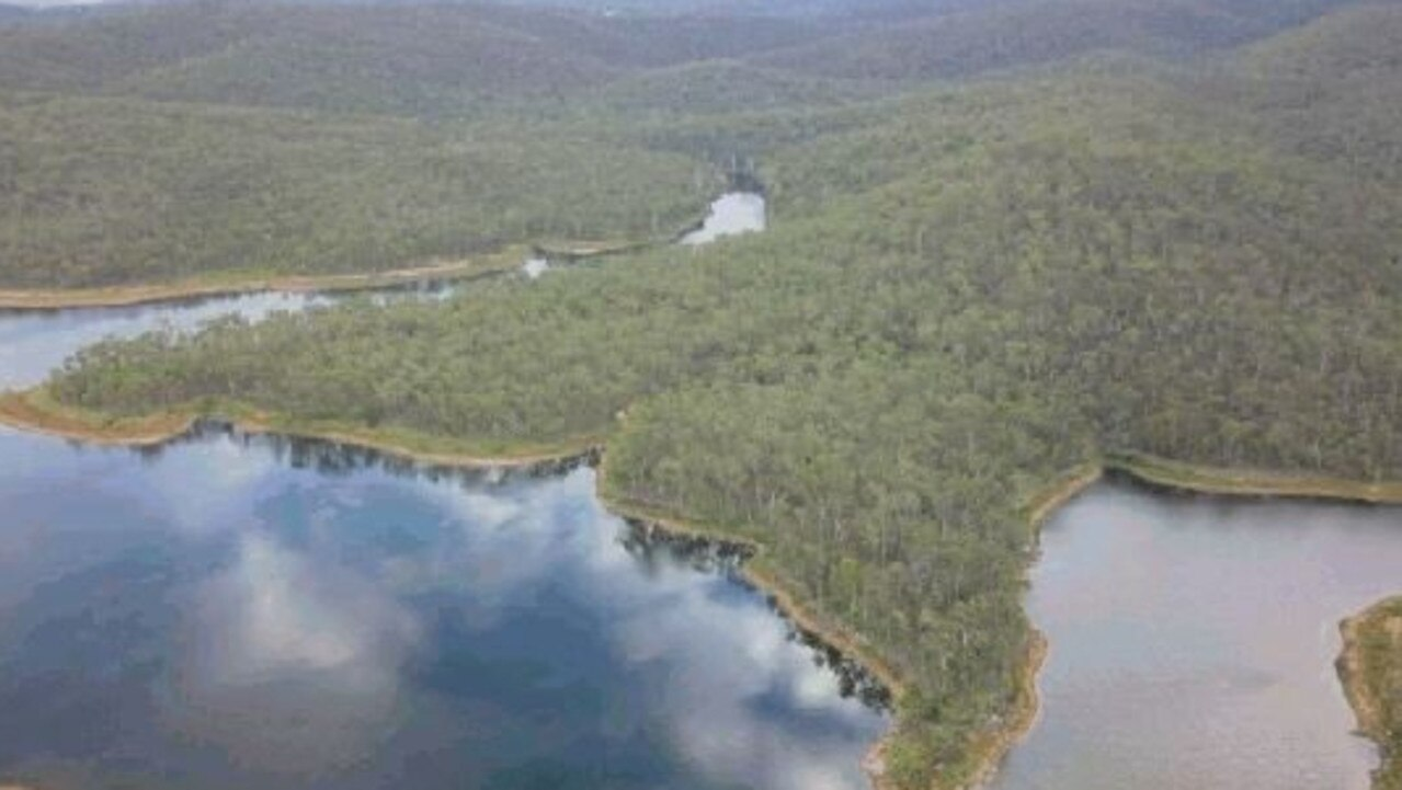 Mount Morgan No. 7 Dam in fuller times.