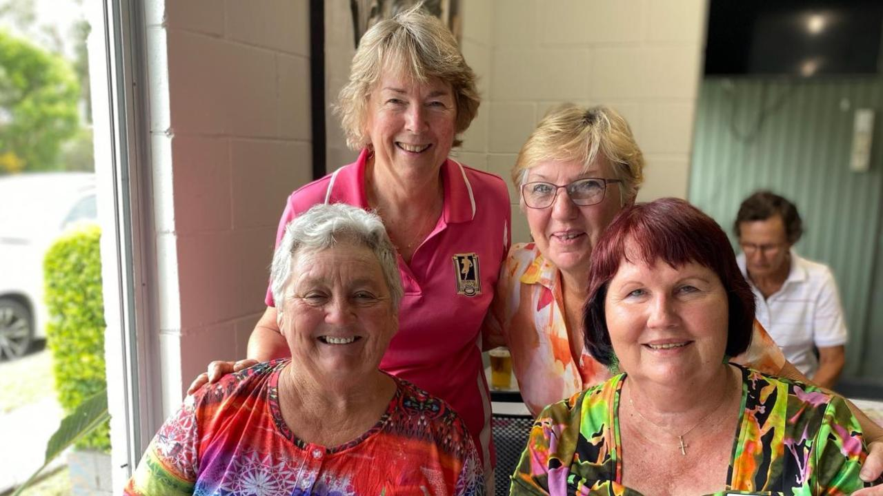 Last Wednesday Linda Collins, Jenny Crerar, Carol Reedman and Daphne Davies, a team that combined the experience of seasoned players with the enthusiasm of newer ones, represented Gympie Ladies at Pomona's day to raise funds for research into childhood cancer.