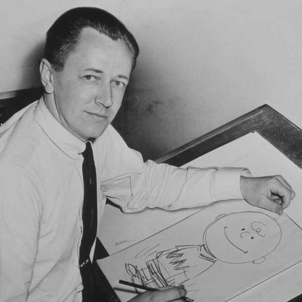 The creative genius behind the Peanuts comics, Charles M. Schulz. Source: Wikipedia