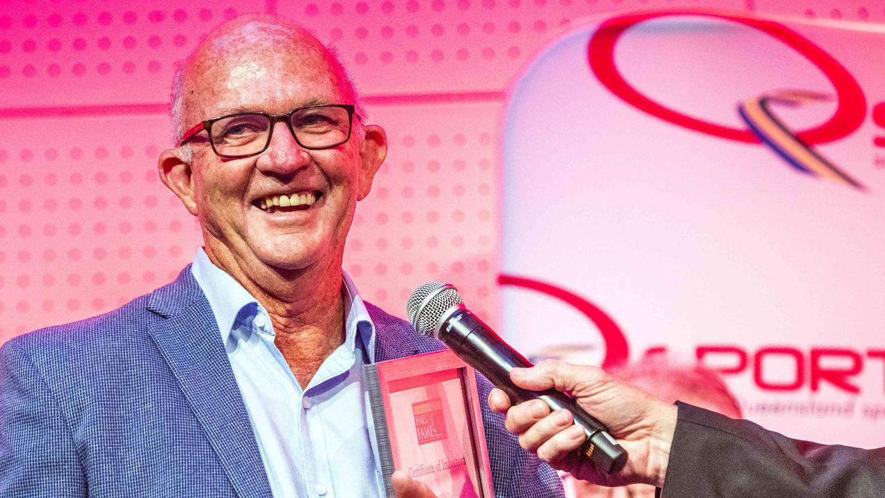 Ipswich-bred international hockey coach Barry Dancer appreciates being recognised at the Queensland Sport Hall of Fame function at the Brisbane Convention and Exhibition Centre. Picture: Richard Walker