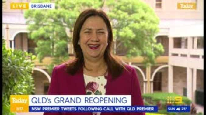 Palaszczuk's laugh over NSW Premier's 'expected' behaviour