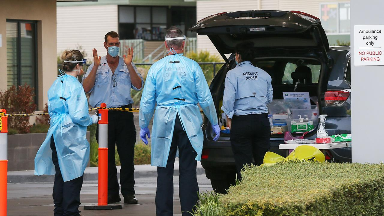 Arcare Aged Care in Craigieburn, Melbourne had reported more than 80 cases of COVID-19 by mid-August. Picture: Ian Currie/NCA NewsWire
