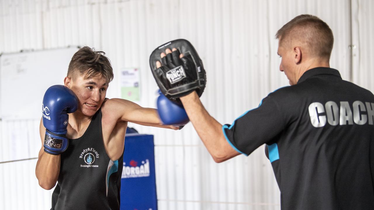 Toowoomba boxer Christian Brady. Photo: Nev Madsen
