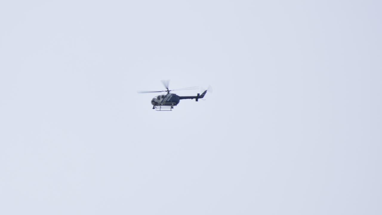 A police chase involving several police crews and a Polair helicopter has been brought to a halt after officers caught up with an alleged car thief Photo: Ebony Graveur