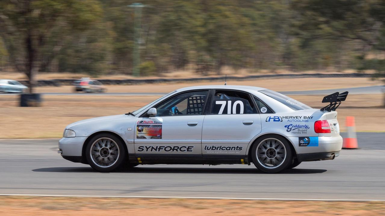 The 2000 Audi B5 1.8T Quattro will be a part of this weekend's inaugural OzEnduro Cup at Queensland Raceway. Picture: John Absolon/Got That Shot Images
