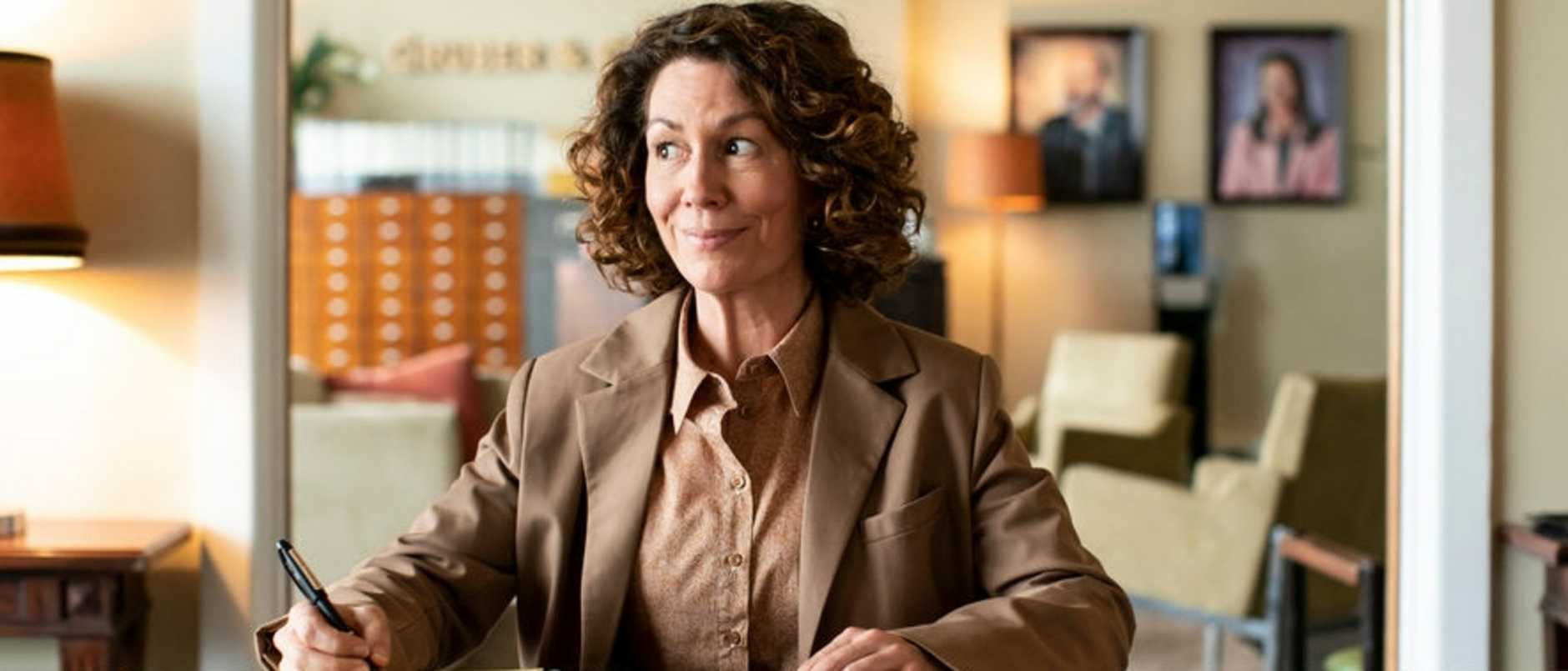 Black humour … Kitty Flanagan plays a probate solicitor in new ABC dramedy, Fisk. Picture: Supplied/ABC