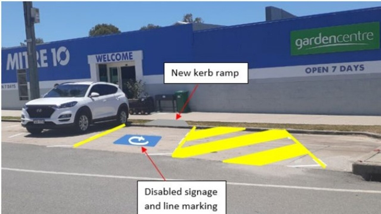 Council officers have recommended a disabled car park is built near Mire 10 in Bowen. Picture: Supplied