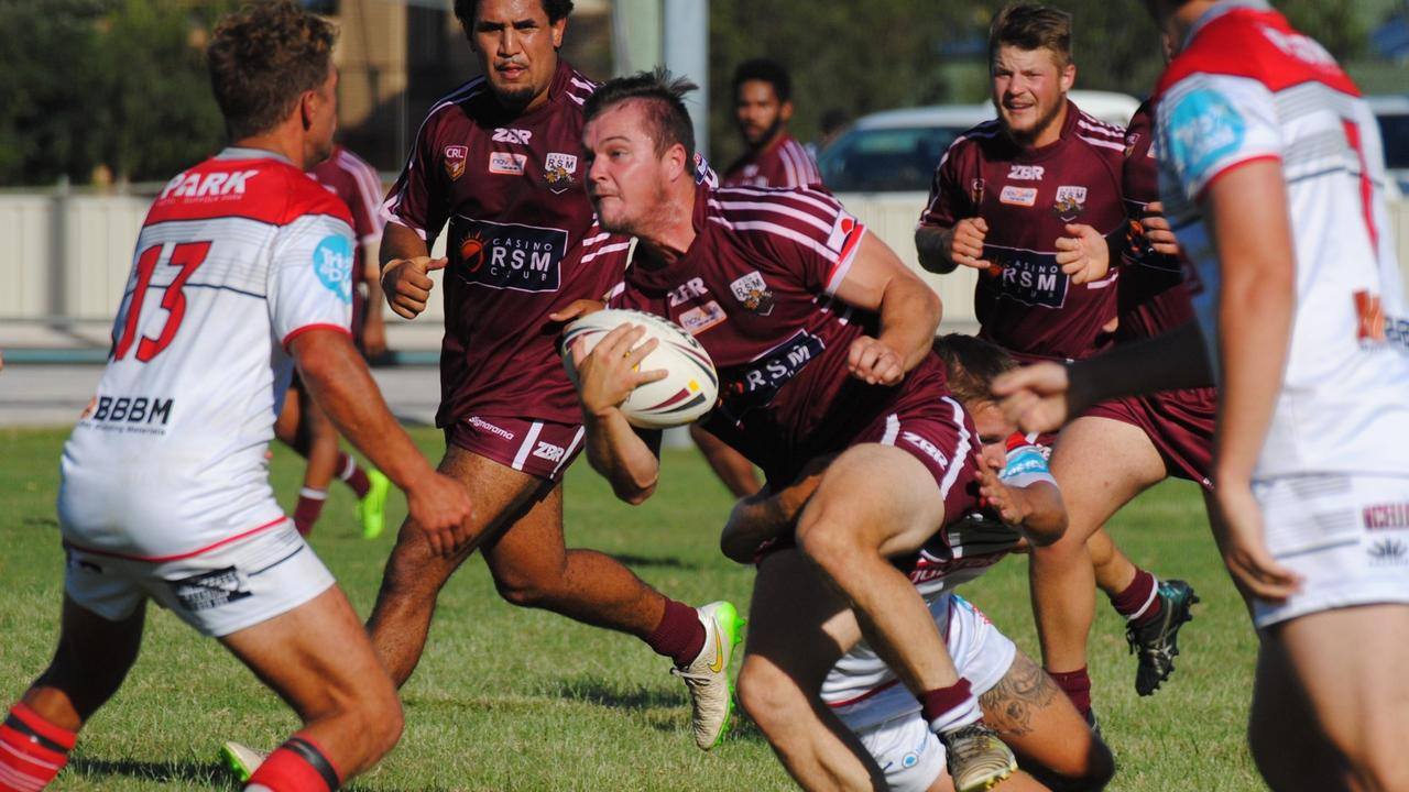 MAN ON A MISSION: NRRRL Casino Cougar's Chad Taylor against Byron Bay in the first round of competition in 2018. Taylor has now signed on again as captain of Cougars first grade for 2021. Photo: Ursula Bentley.