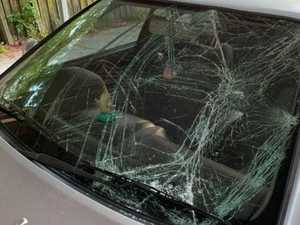 'End to a sh*t night': Car smashed as schoolies party