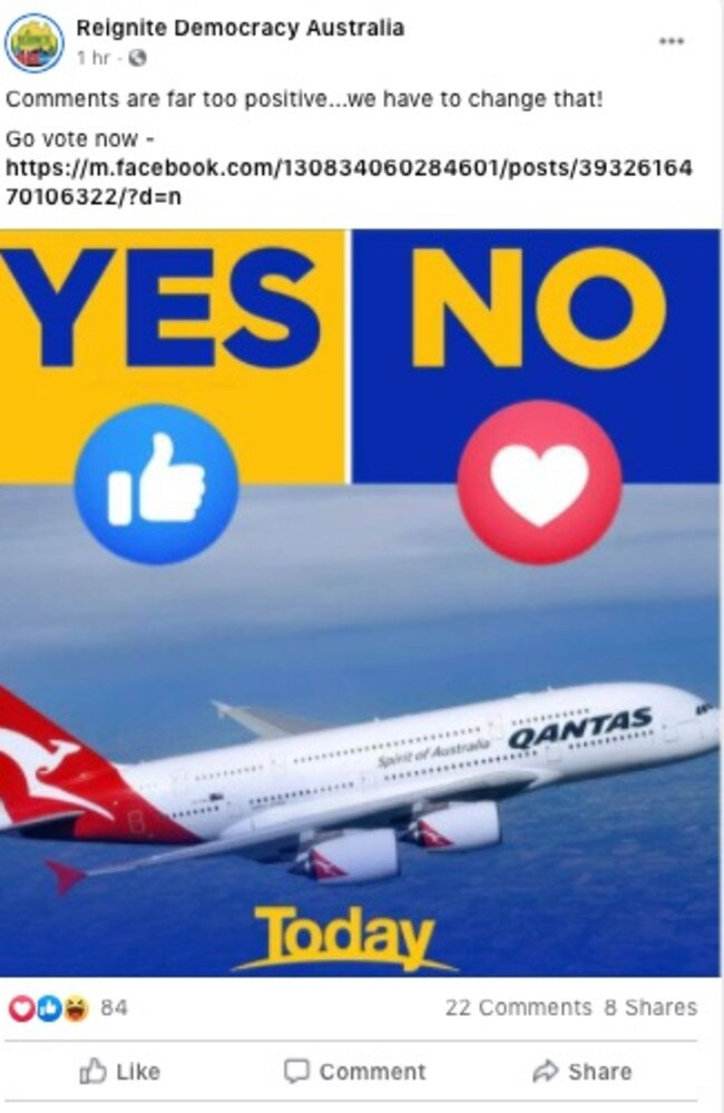 The anti-vaxxer group has been outraged by Qantas' announcement of a requirement for international travellers to be vaccinated.